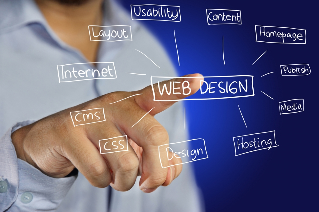 Website Design icon on virtual screen