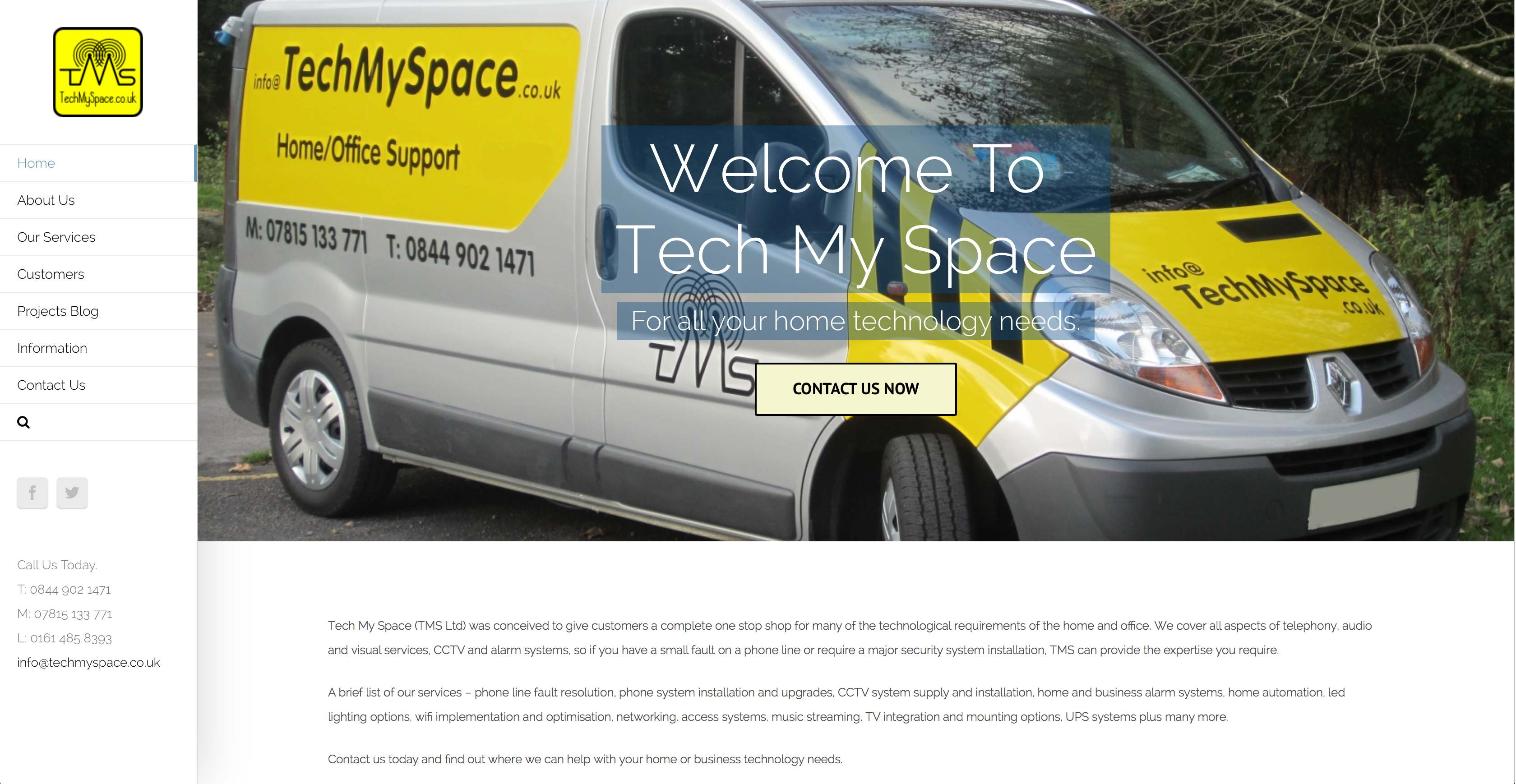 New website design for Tech My Space